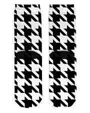 Large houndstooth pattern Crew Length Socks back