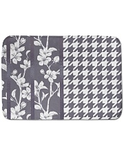 "Grey houndstooth floral pattern Bath Mat - 24"" x 17"" thumbnail"