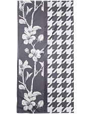 Grey houndstooth floral pattern Bath Towel thumbnail
