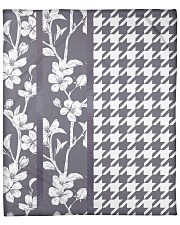 "Grey houndstooth floral pattern Fleece Blanket - 50"" x 60"" thumbnail"