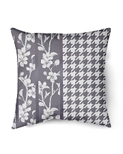 "Grey houndstooth floral pattern Indoor Pillow - 16"" x 16"" thumbnail"