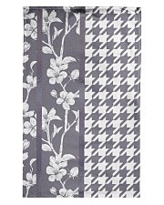 Grey houndstooth floral pattern Tea Towel thumbnail