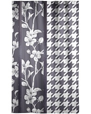 Grey houndstooth floral pattern Window Curtain - Blackout thumbnail