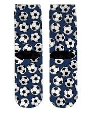 Soccer pattern Crew Length Socks back