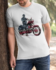 Old Man On Motorcycle Classic T-Shirt apparel-classic-tshirt-lifestyle-front-51