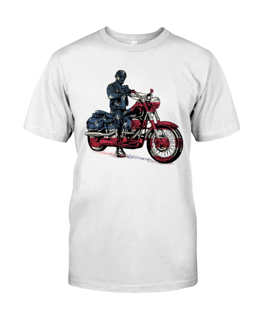 Old Man On Motorcycle Classic T-Shirt