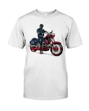 Old Man On Motorcycle Classic T-Shirt front