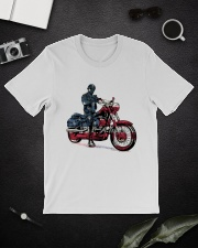 Old Man On Motorcycle Classic T-Shirt lifestyle-mens-crewneck-front-16