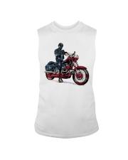 Old Man On Motorcycle Sleeveless Tee thumbnail