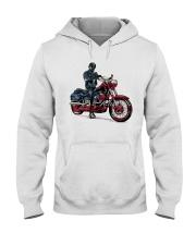 Old Man On Motorcycle Hooded Sweatshirt thumbnail