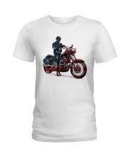 Old Man On Motorcycle Ladies T-Shirt thumbnail