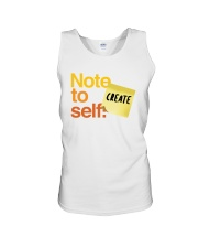 Note to Self - Create Unisex Tank thumbnail