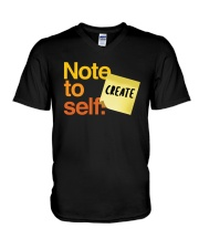 Note to Self - Create V-Neck T-Shirt thumbnail