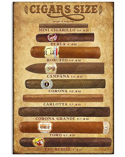 Cigars size poster