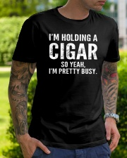 I'm holding a cigar so yeah I'm pretty busy Classic T-Shirt lifestyle-mens-crewneck-front-7