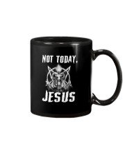 Not today Jesus Mug tile