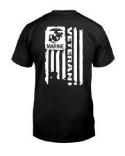 Marine veteran Classic T-Shirt back