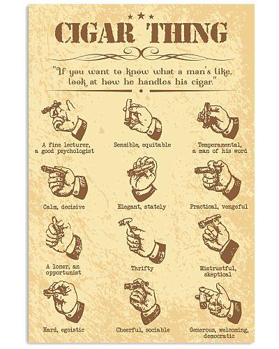Cigar handle poster