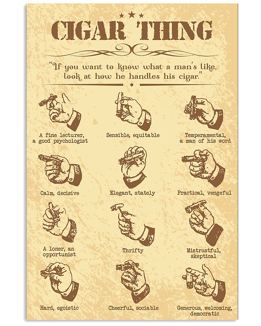 Cigar handle poster 16x24 Poster