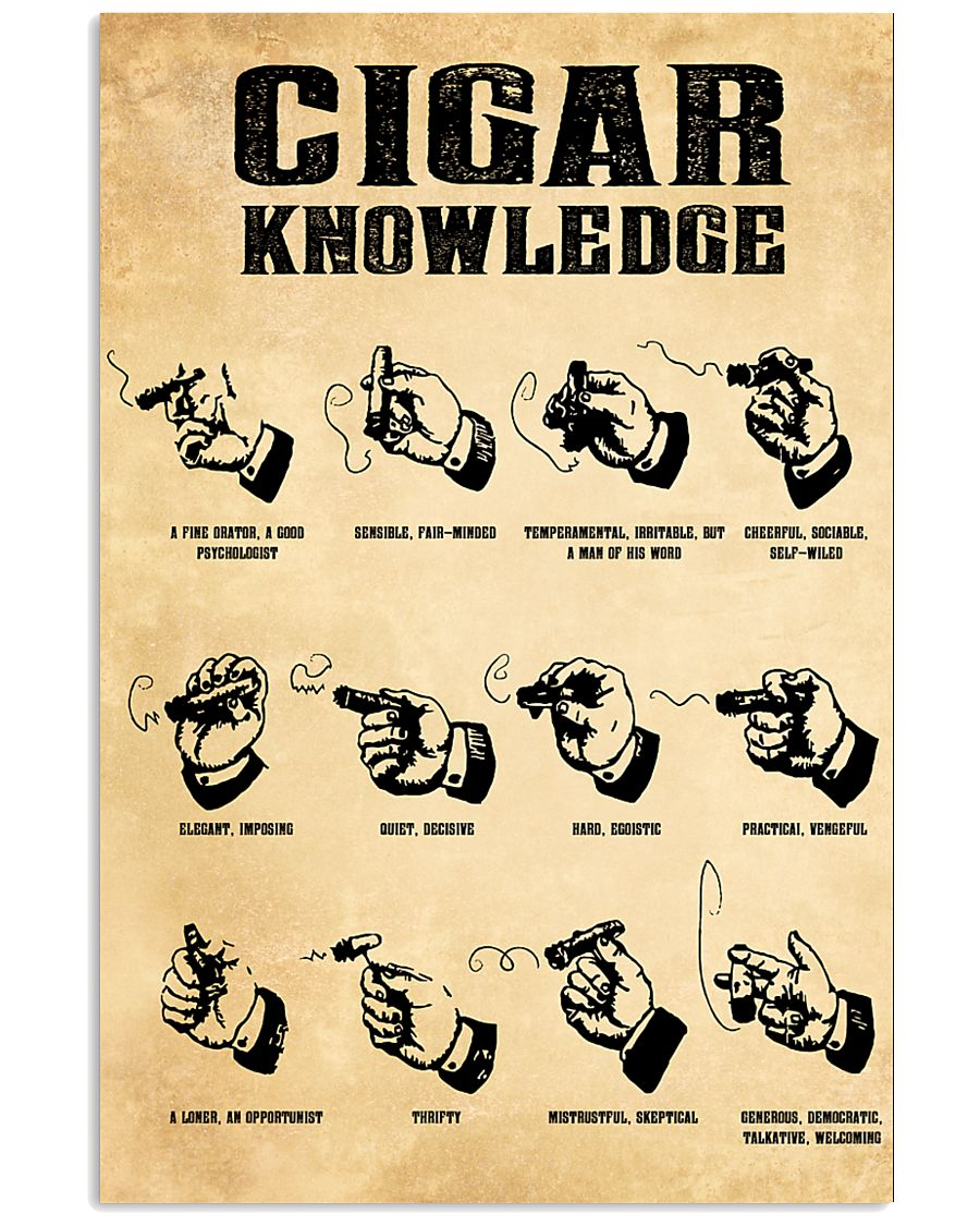 Cigar Knowledge Poster 24x36 Poster