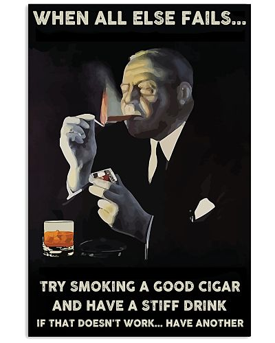 When all else fails cigars poster