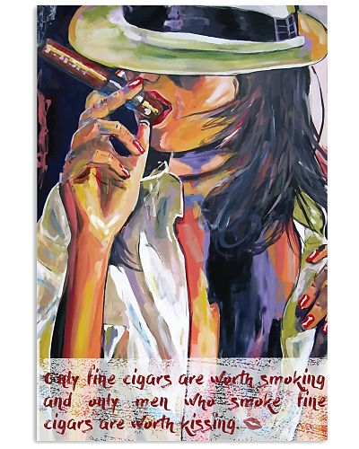Women and cigars poster