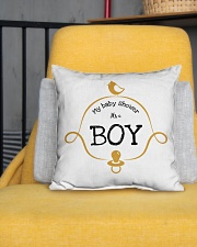 "My Baby Shower It's Boy Pillow Indoor Pillow - 16"" x 16"" aos-decorative-pillow-lifestyle-front-01"