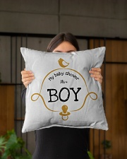 "My Baby Shower It's Boy Pillow Indoor Pillow - 16"" x 16"" aos-decorative-pillow-lifestyle-front-03"