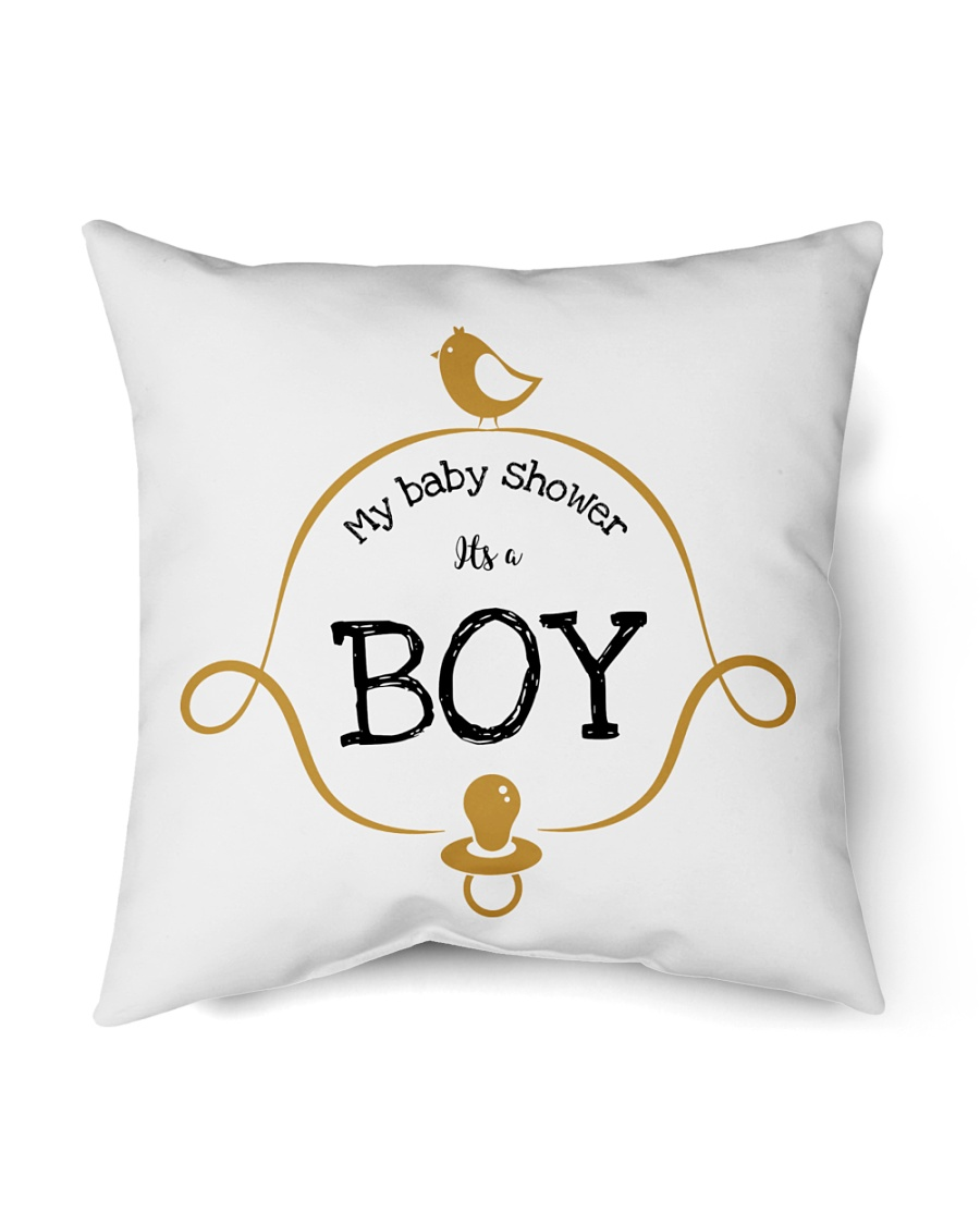 "My Baby Shower It's Boy Pillow Indoor Pillow - 16"" x 16"""