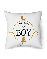 "My Baby Shower It's Boy Pillow Indoor Pillow - 16"" x 16"" front"
