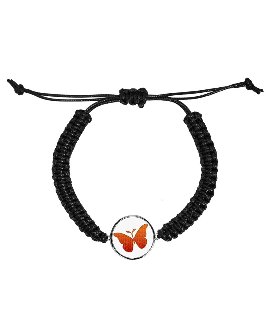 Butterfly  Bracelet Cord Circle Bracelet