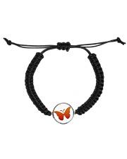 Butterfly  Bracelet Cord Circle Bracelet front