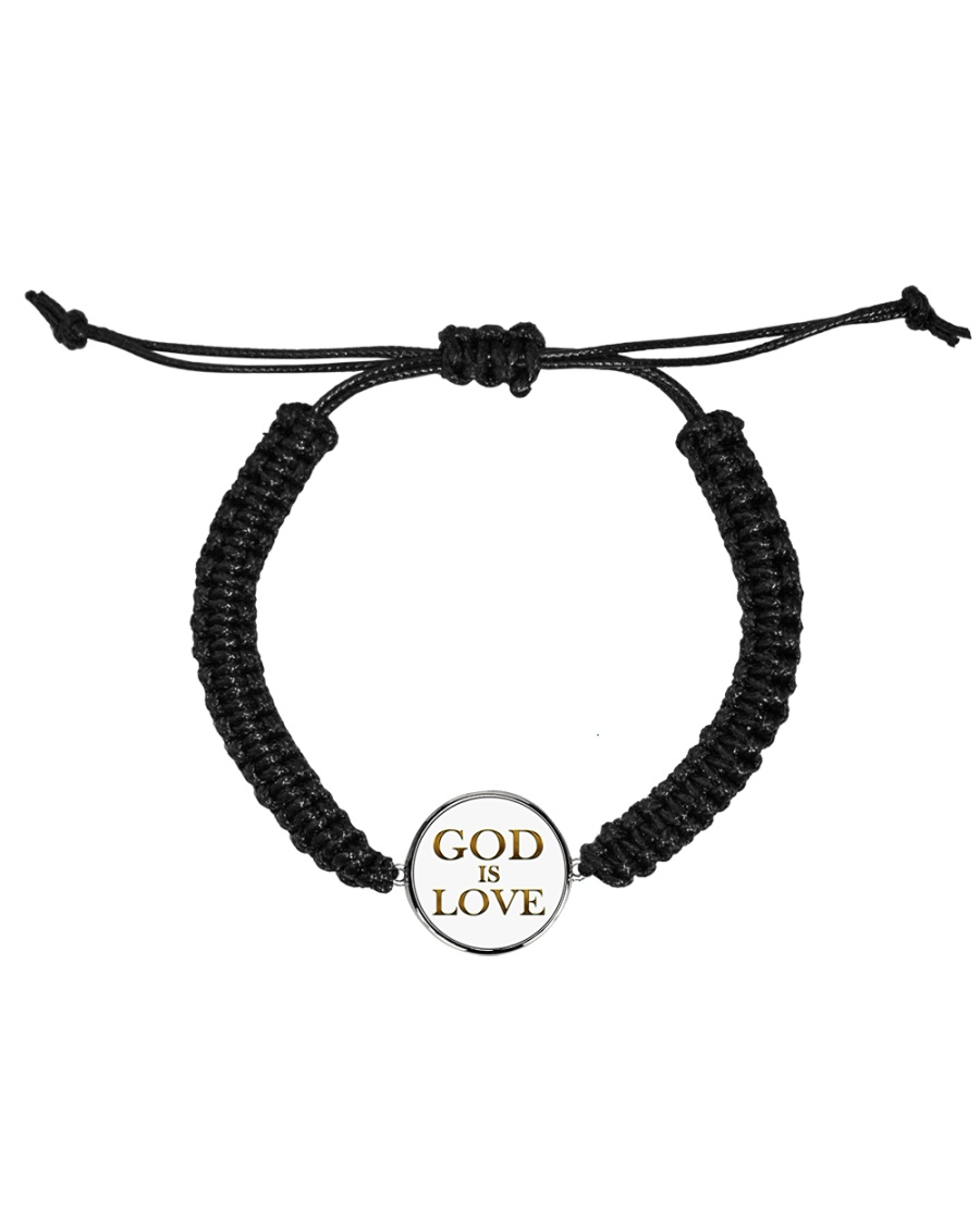 God Is Love Bracelet Cord Circle Bracelet