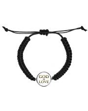 God Is Love Bracelet Cord Circle Bracelet front