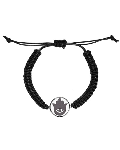Evil Eye Hamza Hand Cord  Bracelet
