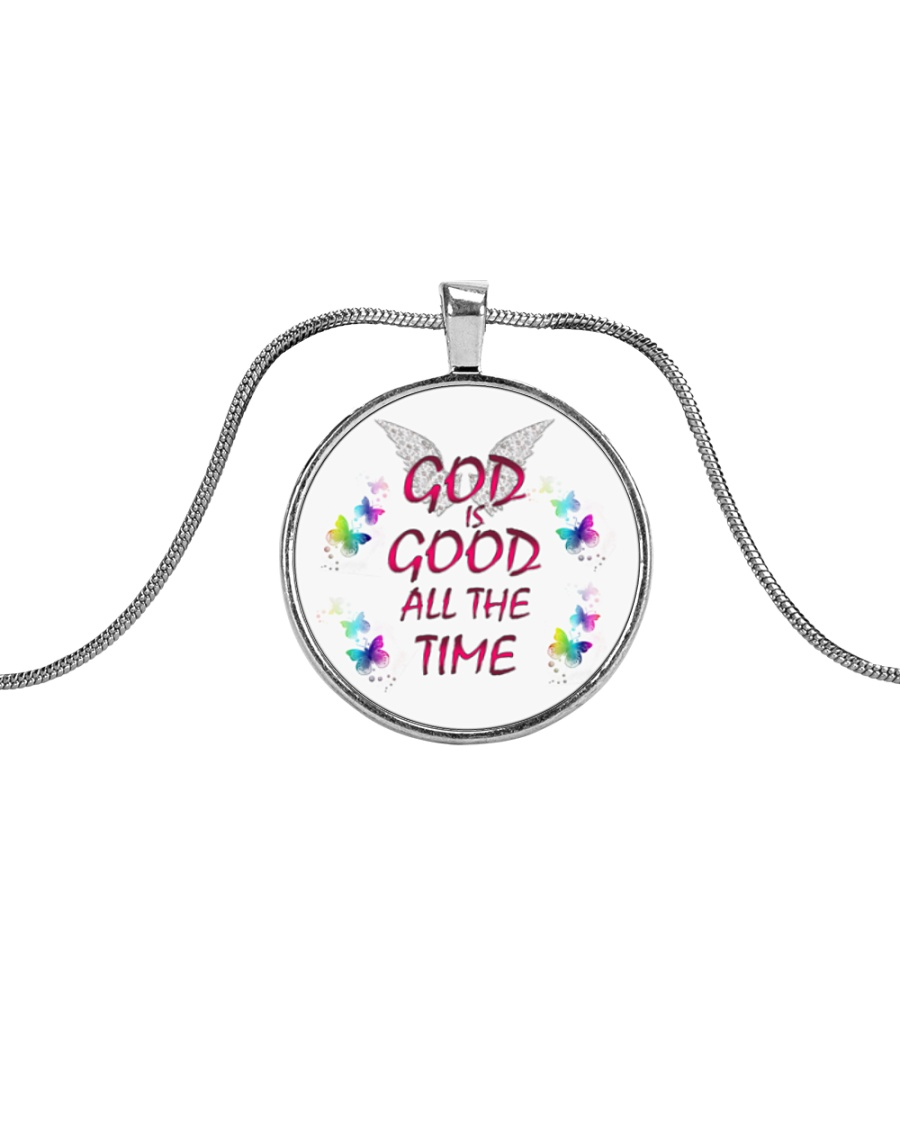 God Is Good Necklace Metallic Circle Necklace