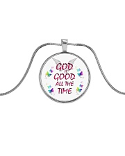 God Is Good Necklace Metallic Circle Necklace front