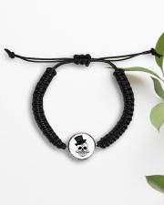 Skull Cord Circle Bracelet Cord Circle Bracelet aos-bracelet-cord-front-lifestyle-7