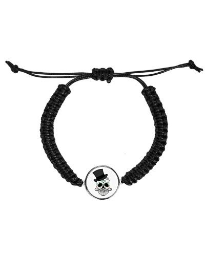 Skull Cord Circle Bracelet