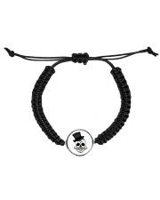 Skull Cord Circle Bracelet Cord Circle Bracelet front