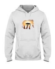 Elephant in the savannah Hooded Sweatshirt thumbnail