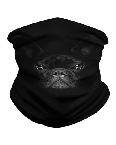 Black Frenchie Neck Gaiter