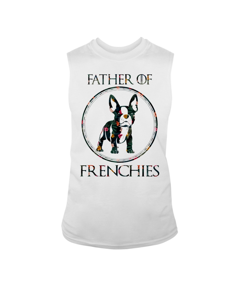 Father Of Frenchie Gift T Shirt Sleeveless Tee