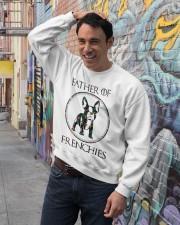 Father Of Frenchie Gift T Shirt Crewneck Sweatshirt lifestyle-unisex-sweatshirt-front-4