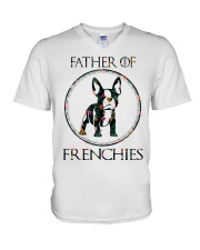 Father Of Frenchie Gift T Shirt V-Neck T-Shirt thumbnail