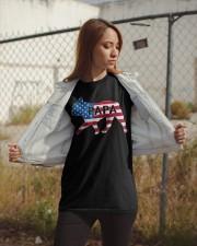 Papa French Bulldog American Flag Shirt Classic T-Shirt apparel-classic-tshirt-lifestyle-07