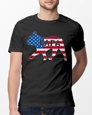 Papa French Bulldog American Flag Shirt Classic T-Shirt lifestyle-mens-crewneck-front-13