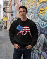 Papa French Bulldog American Flag Shirt Crewneck Sweatshirt lifestyle-unisex-sweatshirt-front-2