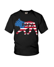 Papa French Bulldog American Flag Shirt Youth T-Shirt tile