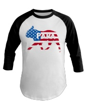 Papa French Bulldog American Flag Shirt Baseball Tee thumbnail